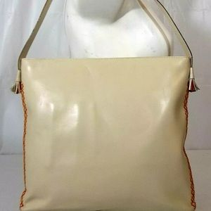KATE SPADE Ivory Leather Colorful Side Stitch